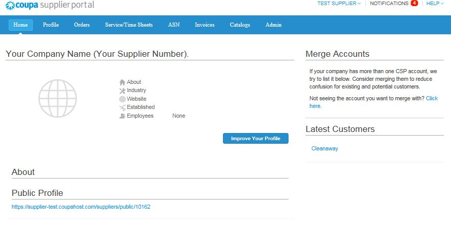 Registering on the Coupa Supplier Portal (CSP) - img 2