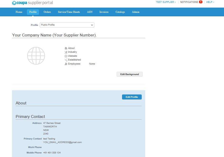 Registering on the Coupa Supplier Portal (CSP) - img 7