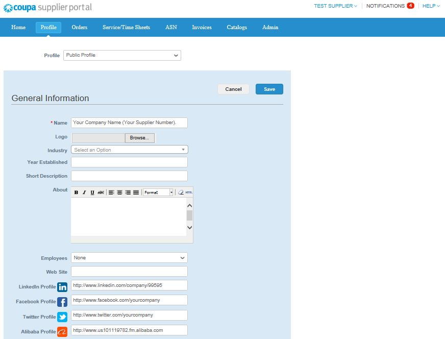 Registering on the Coupa Supplier Portal (CSP) - img 9