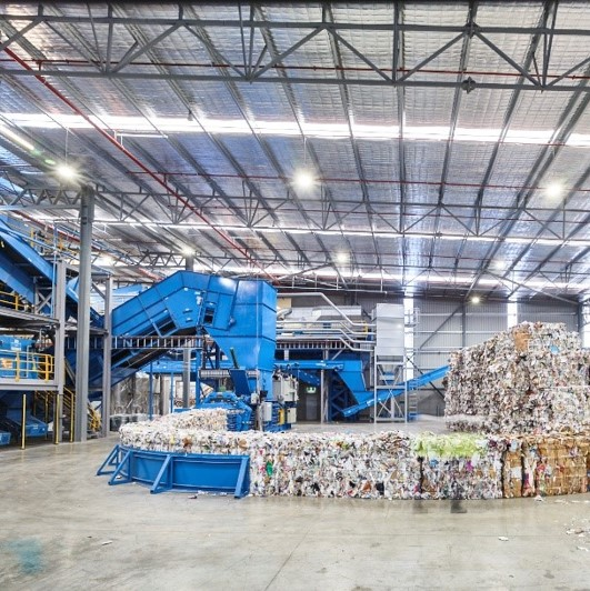 Bales from a Material Recycling Facility (MRF)