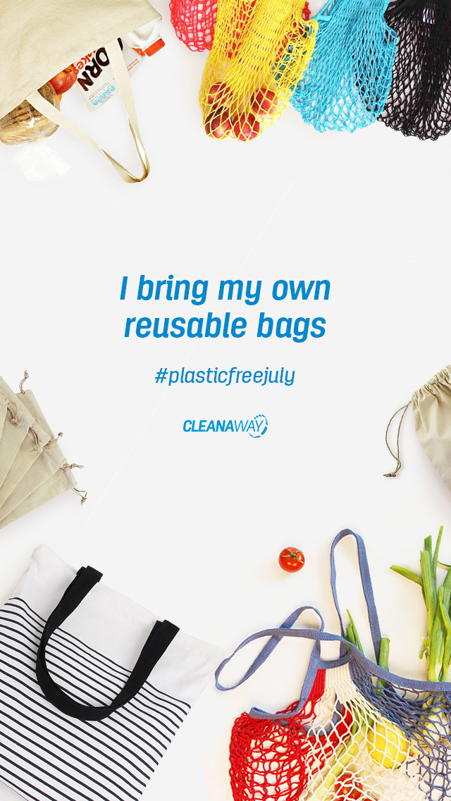 I bring my own recyclable bags mobile wallpaper