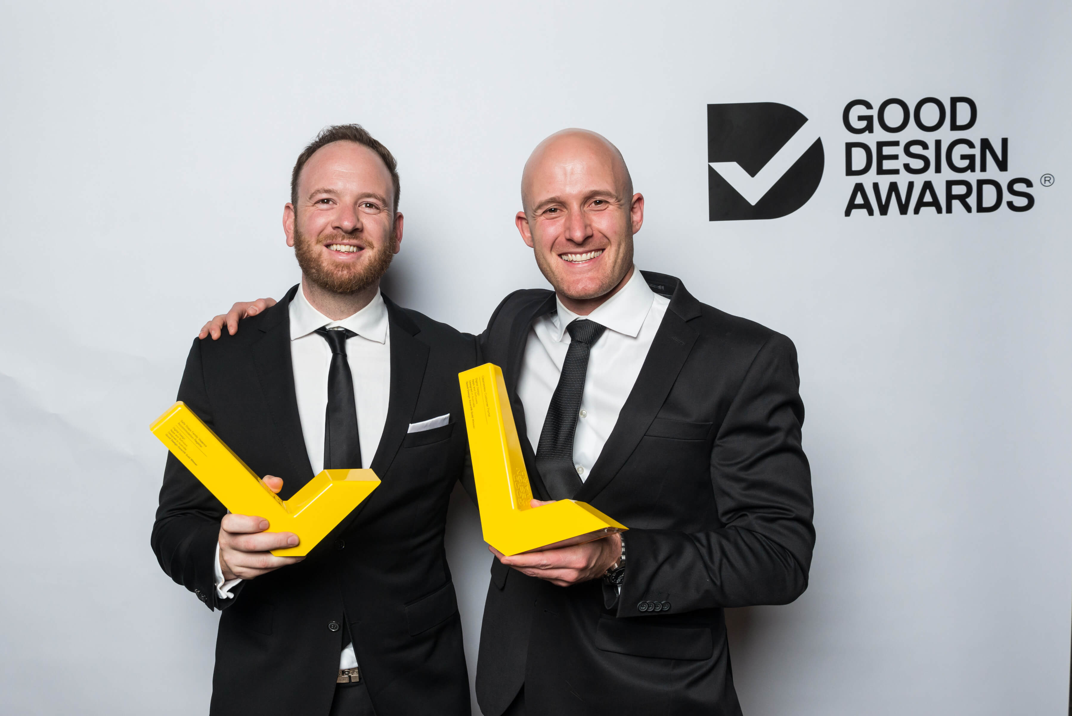 Accepting the Good Design Awards for Cleanaview