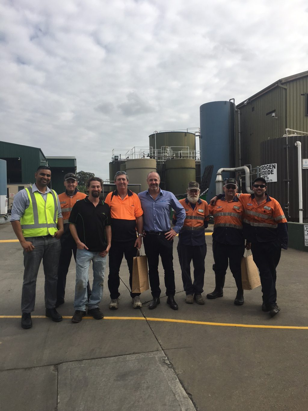 Jeff Proctor, EGM Commercial, with the team at TES South Windsor in NSW
