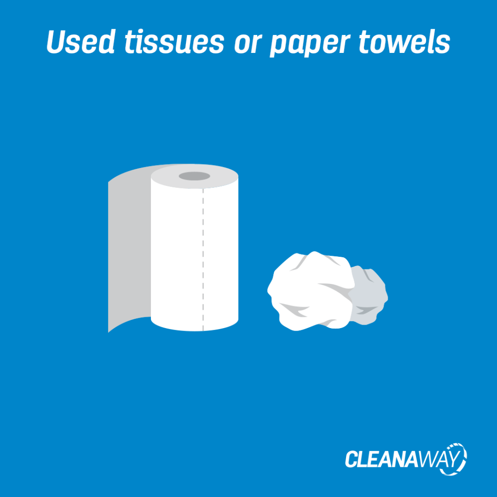 Used tissues or paper towels