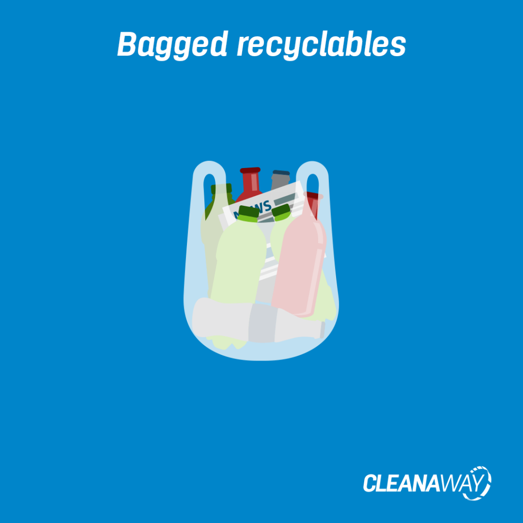 Bagged recyclables