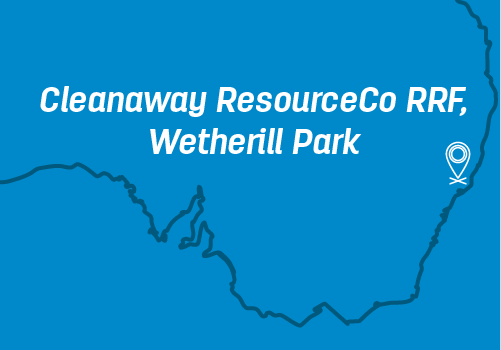 Location of Cleanaway ResourceCo RRF, Wetherill Park on a map