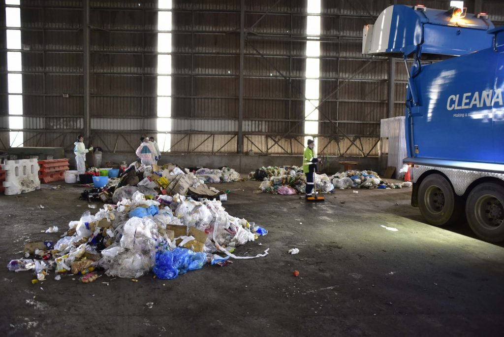 Conducting waste audits is a dirty, hands-on activity