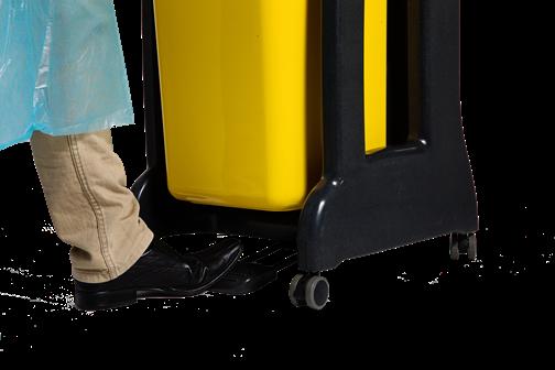 foot pedal for opening a Cleanaway Daniels Clinismart bin
