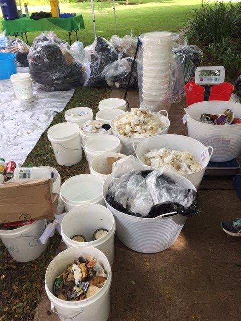 waste collected from the audit