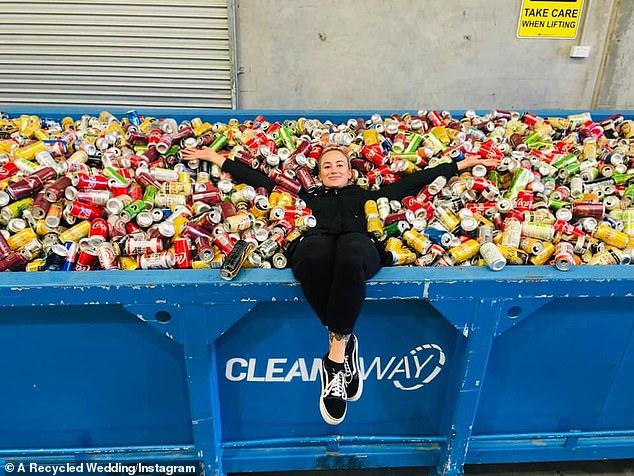 A recycled wedding Instagram