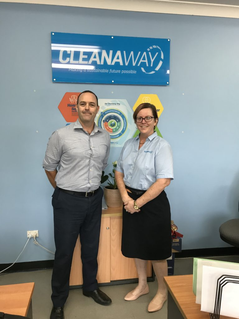 Mark pictured with Branch Manager Nicole Watkins