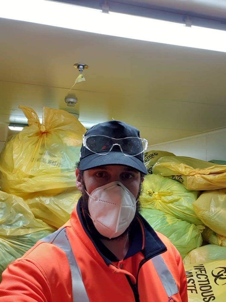 Cleanaway Daniels drivers going above and beyond to clear hospital waste rooms