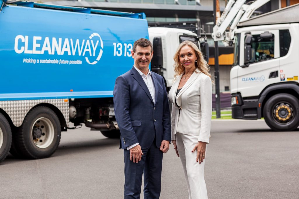 General Manager David Clancy with Executive General Manager Corina Black