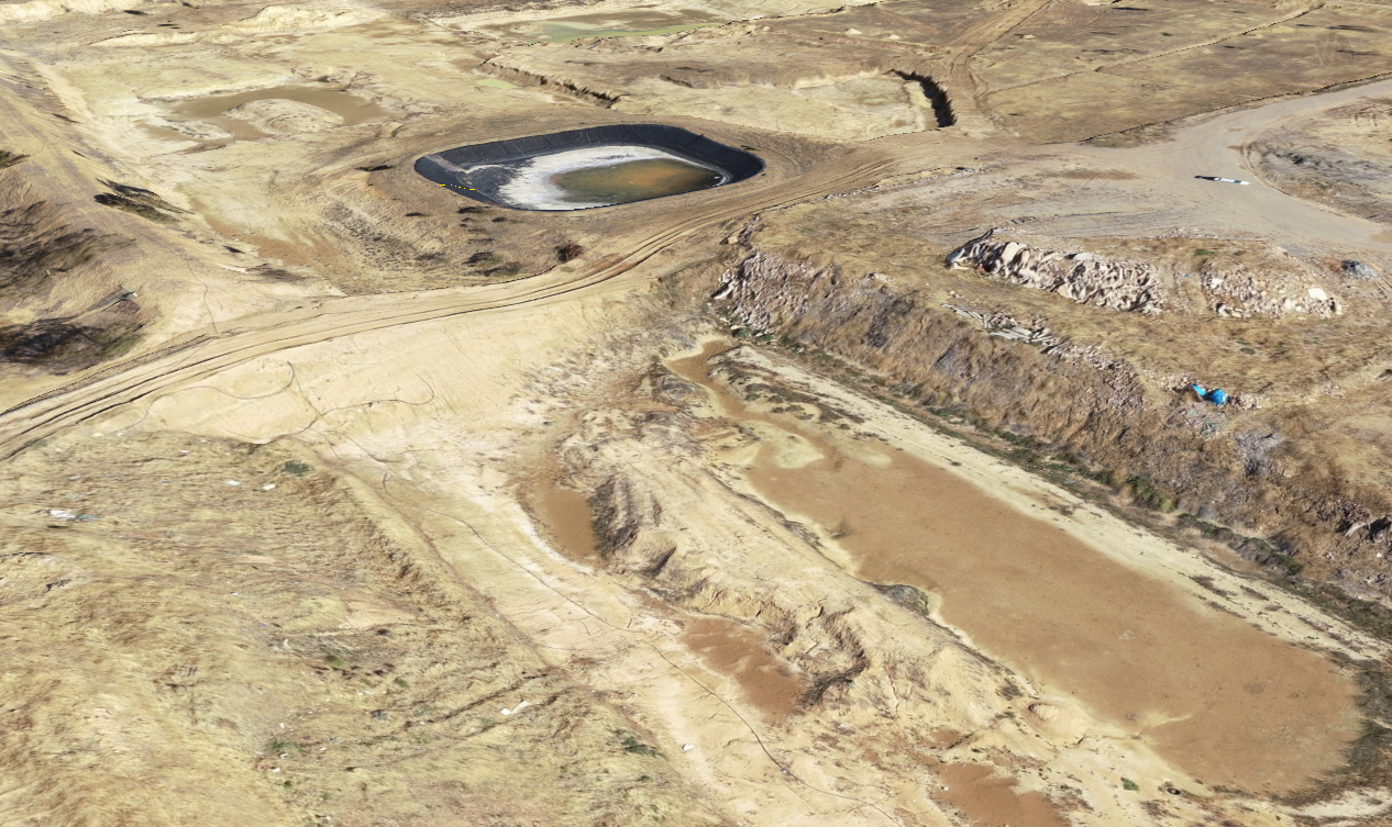 northern area of Nuriootpa Landfill in December 2019, immediately prior to the commencement of rehabilitation works