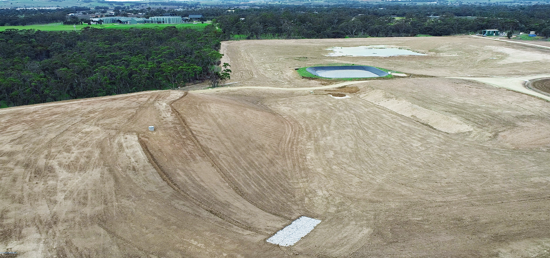 northern area of Nuriootpa Landfill in July 2020, immediately following completion of rehabilitation works