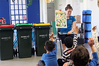 Learning proper waste segregation with Cleanaway skips