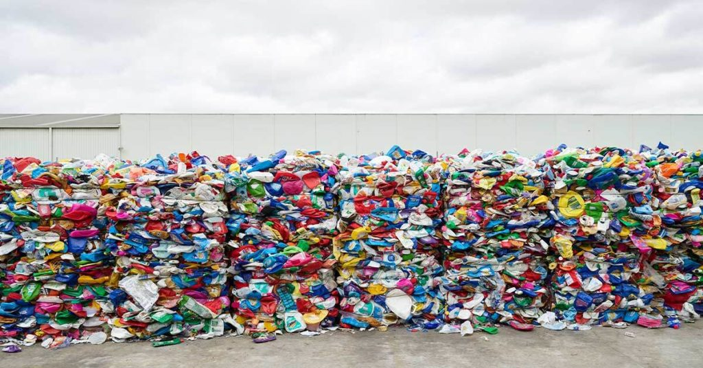 plastics that are sorted into clean, individual polymers they are baled for sale or input into a pelletising facility
