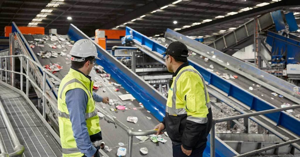 inside Cleanaway's Laverton (PRF) Plastic Recovery Facility